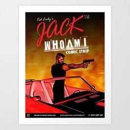 Official JackWhoAmI Comic Strip Merchandise Art Print