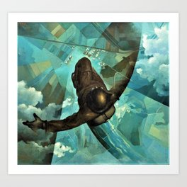 That One Second Before Your Chute Opens by Tullio Crali Art Print