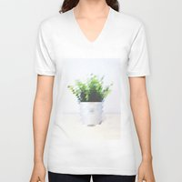 plant V-neck T-shirts featuring Plant by Danny Ivan