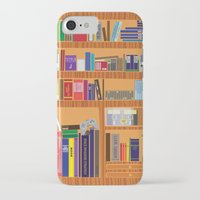 video game iPhone & iPod Cases featuring Video Game Geek's Bookshelf by ambivalentpress