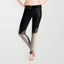 CUBE 1 GOLD & BLACK Leggings