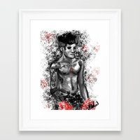 boxing Framed Art Prints featuring Boxing by justsomestuff