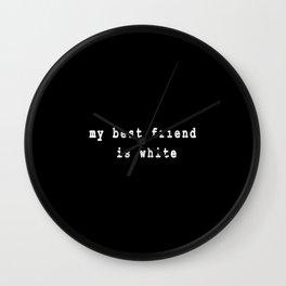 White Friend Wall Clock