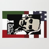 the godfather Area & Throw Rugs featuring Robert De Niro Godfather II  by jt7art&design