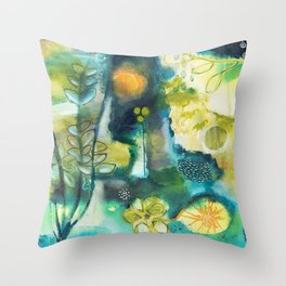 Cracks III - Where the light gets in Throw Pillow