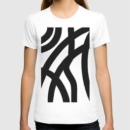Abstract Black Lines T-shirt