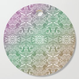 twisting mirrored pattern gradient zendoodle Cutting Board