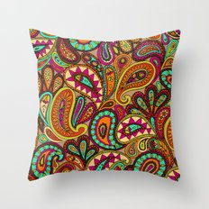 Basic Paisley  Throw Pillow