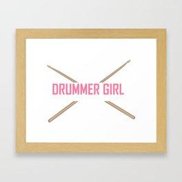 Drummer Girl -Percussionist Musical Instrument Shirt Framed Art Print
