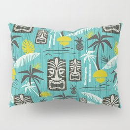 Island Tiki Aqua Pillow Sham