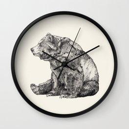 Bear // Graphite Wall Clock