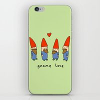 gnome iPhone & iPod Skins featuring Gnome Love by Sophie Corrigan