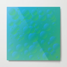 Fizzy Pear - Gradients in blue and green Metal Print