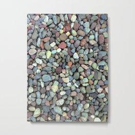 Rocks on Ground Color Photo Metal Print