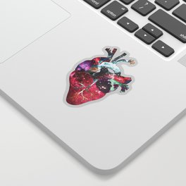 Superstar Heart (on grey) Sticker