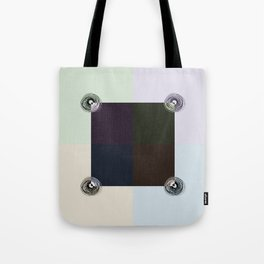 Spiral Lines 4 Light and Dark Colors Geometry Tote Bag