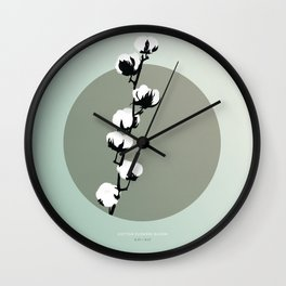 [8.23—8.27] Cotton Flowers Bloom Wall Clock