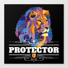 Protector: Lion Canvas Print
