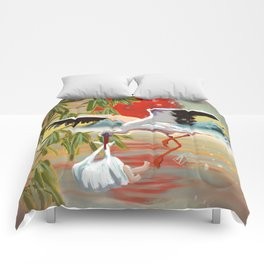 Stork and Baby Comforters