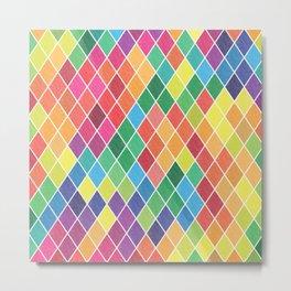 Watercolor Geometric Pattern II Metal Print