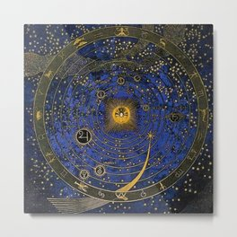 Stars and Celestial Heights by Franz von Stuck Metal Print