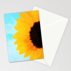 Half A SunFlower  Stationery Cards