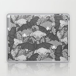VINTAGE GREY BATS & WHITE LILIES Laptop & iPad Skin