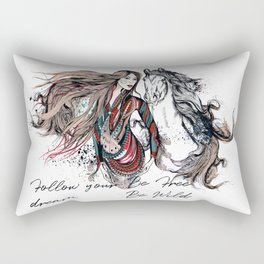 Be wild, be free, follow your dream Rectangular Pillow
