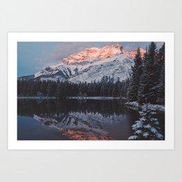 Mount Cascade Art Print