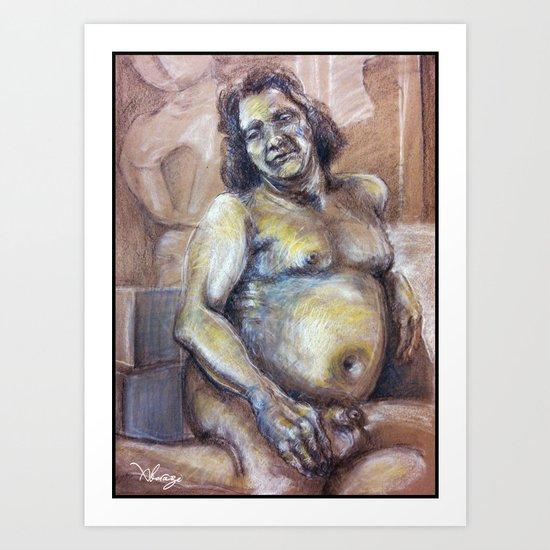 Life figure drawing Art Print