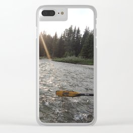 Rafting Down the Snake River Clear iPhone Case