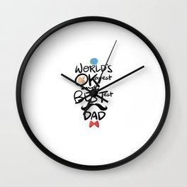 World's Okayest & Bestest Dad Wall Clock