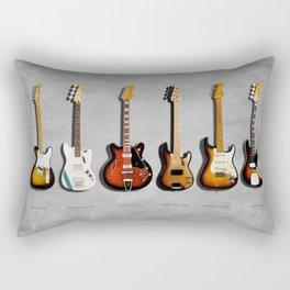 The Guitar Collection Rectangular Pillow