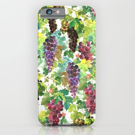 Wine Grapes In Watercolor iPhone Case