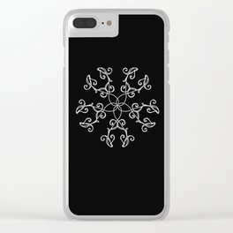 Five Pointed Star Series #5 Clear iPhone Case
