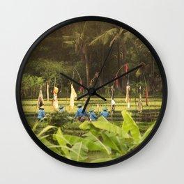 Rice harvest Bali, Indonesia. Travel photography fine art print Wall Clock