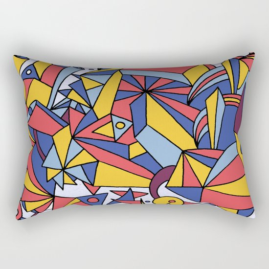 - dreamed architecture - Rectangular Pillow
