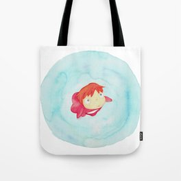 Ponyo Watercolor Tote Bag