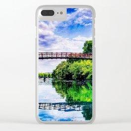 Barton Springs Bridge Clear iPhone Case
