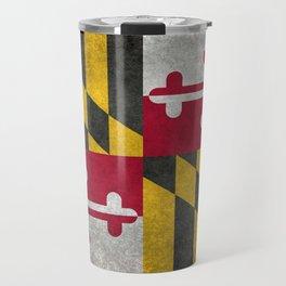 Maryland State flag - Vintage retro style Travel Mug
