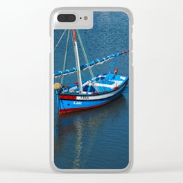 Wooden Fishing Sailboat Clear iPhone Case