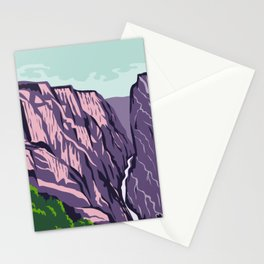 Black Canyon of the Gunnison National Park Montrose County Colorado United States WPA Poster Art Color Stationery Cards