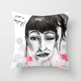 What is happening? Throw Pillow