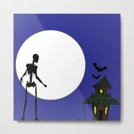Halloween Skeleton Metal Print