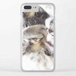sleepy cat Agatha Clear iPhone Case