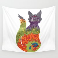 wonderland Wall Tapestries featuring Wonderland by Heather Searles