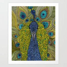 Mr. Pavo Real Art Print