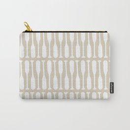 Paddles Pattern in Neutral Beige Carry-All Pouch