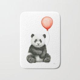 Baby Panda and Red Balloon Bath Mat