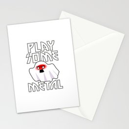 Heavy Metal Ghost Stationery Cards